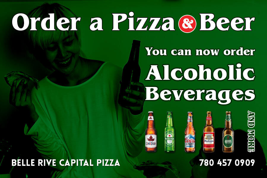 You Can Now Order Bottled Alcoholic Drinks from Capital Pizza. Please Call for Details.